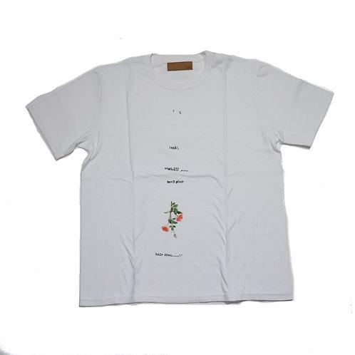 BANA/Print TEE/WHITE