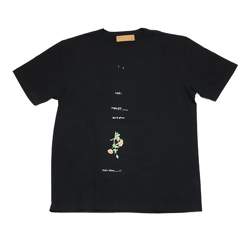 BANA/Print TEE/BLACK