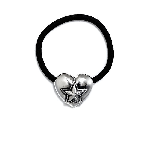 HEART AND STAR HAIR TIE