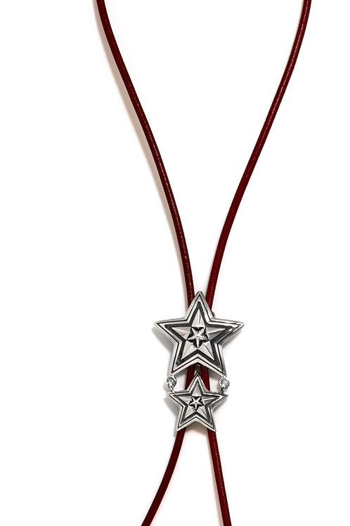 Star in Star Red Bolo Tie