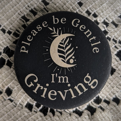 Grieving Pin ~Moon & Fern