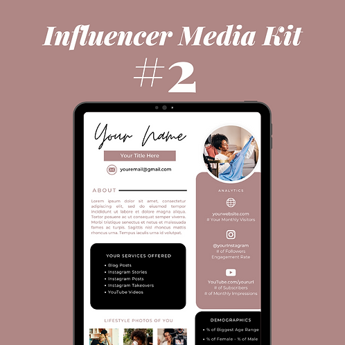 Influencer Media Kit Template #2