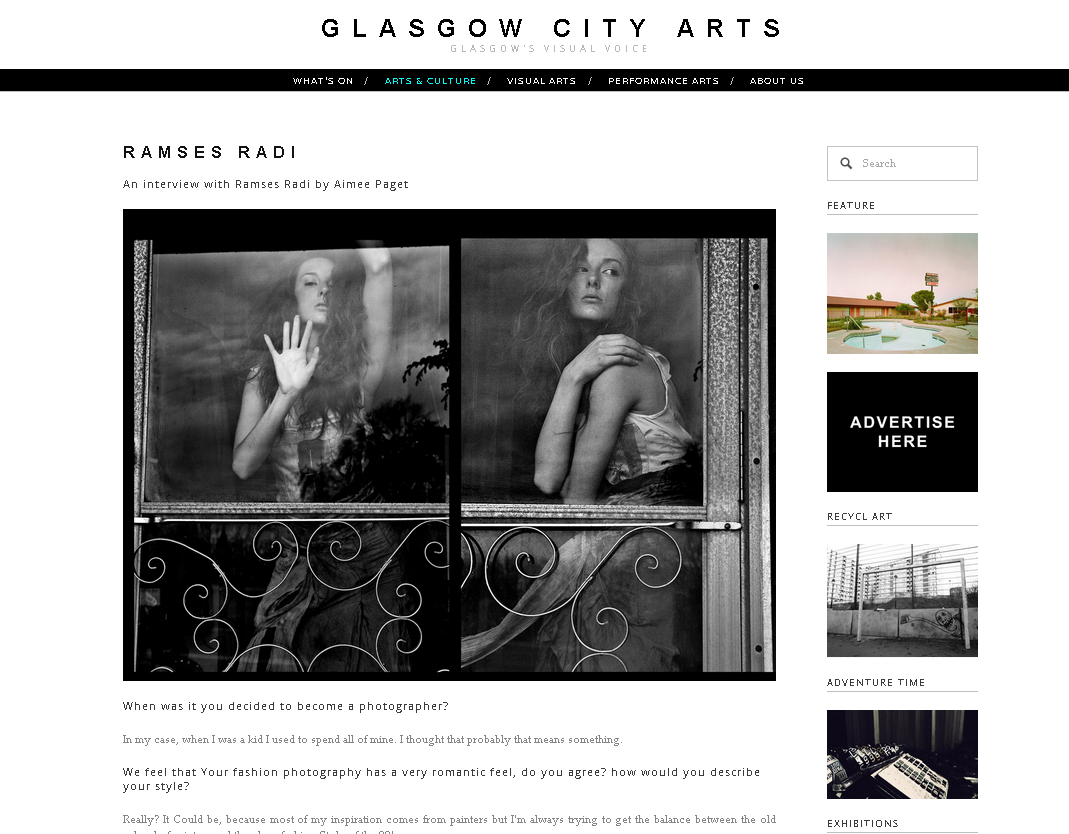 Interview for Glasgow City Arts