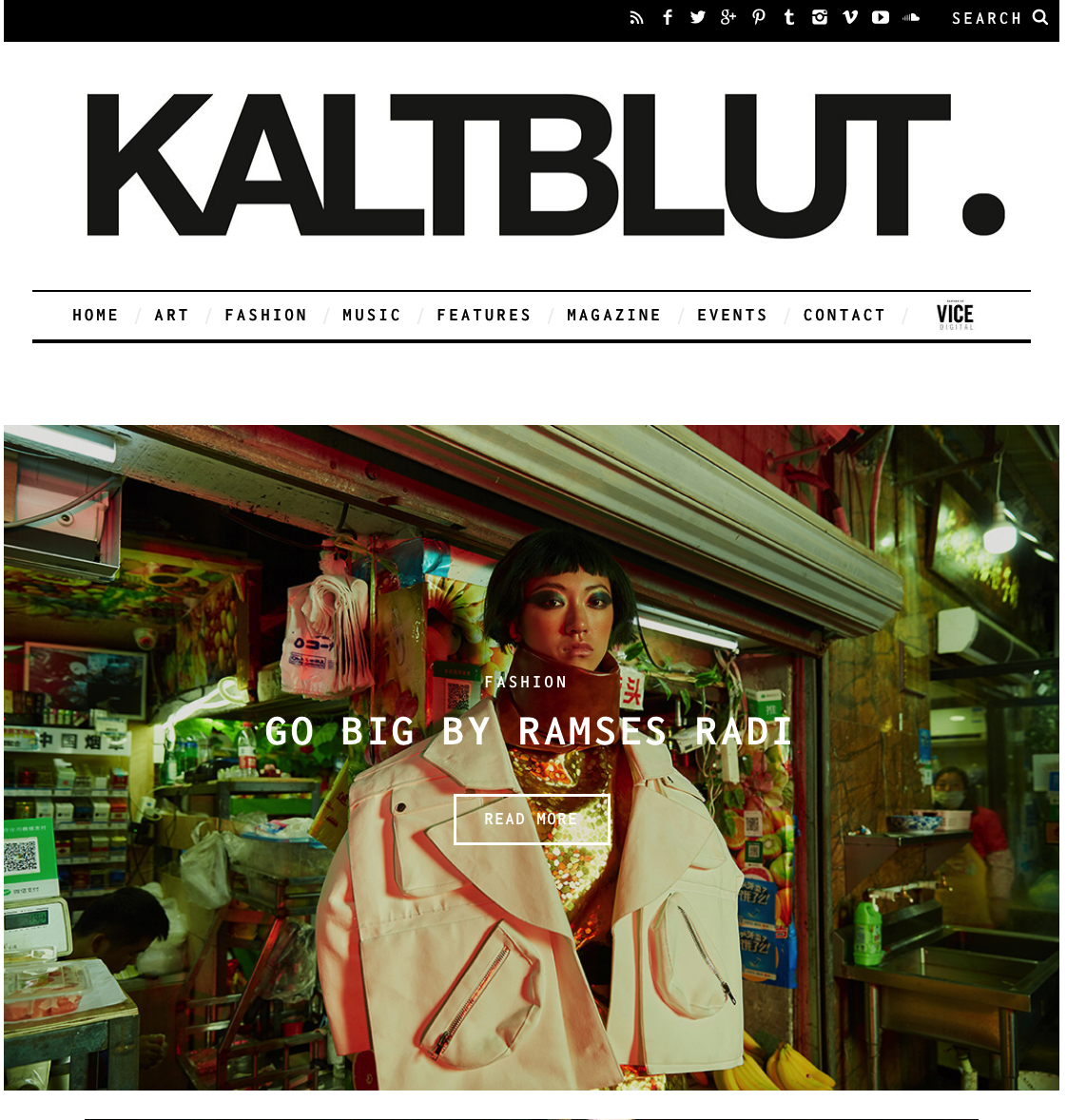 Our Editorial for Kaltblut Magazine