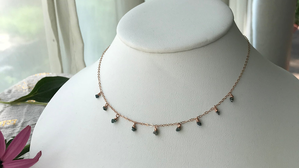 9 blessings diamond necklace