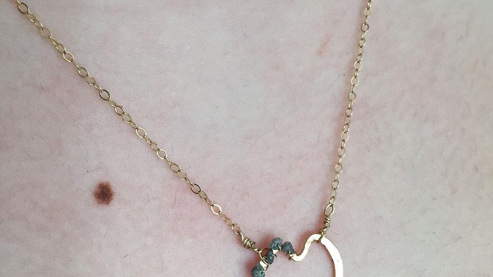 freeform rough cut diamond hearts