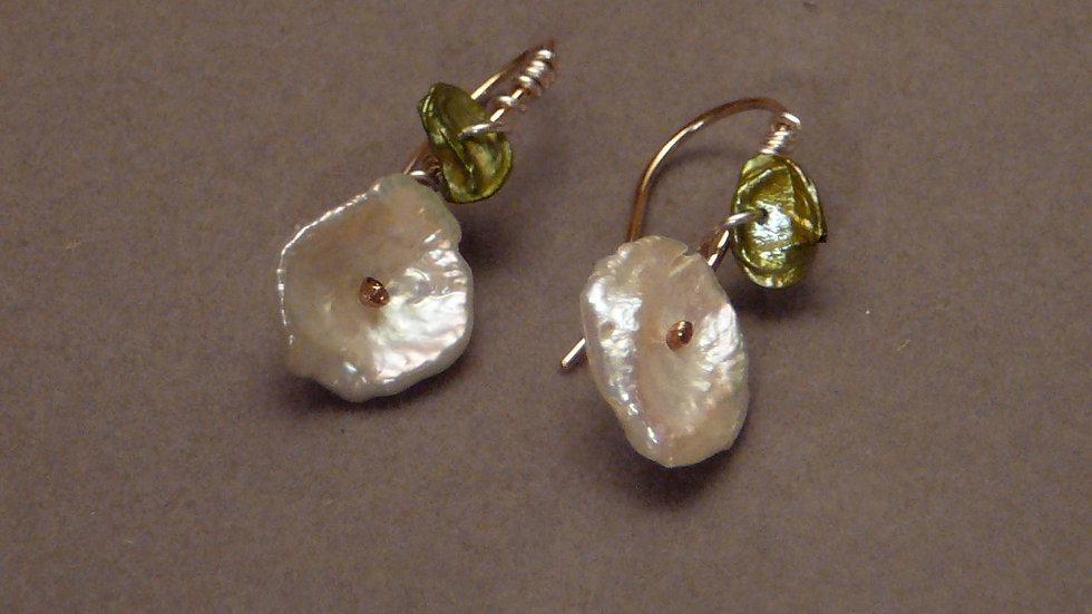 Mermaid flower earrings