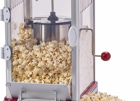 Cooks Professional Popcorn Maker Machine Retro 1950's Edition Hot Air Popper wit