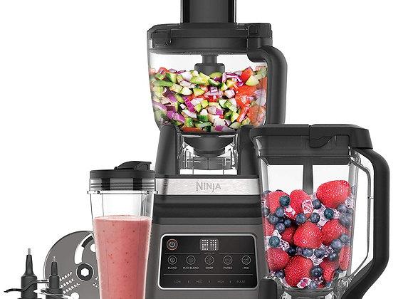 Ninja 3-in-1 Food Processor with Auto-iQ (BN800UK) 1200 W, 1.8 Litre Bowl, 2.1L