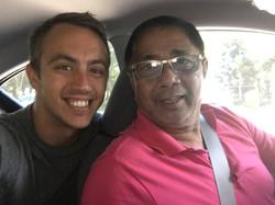 With My Grab Car Driver Eddie.
