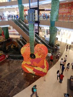 Guitar made of flowers