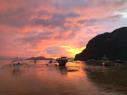 Sunset in El Nido