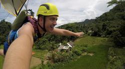 Superman Ziplining
