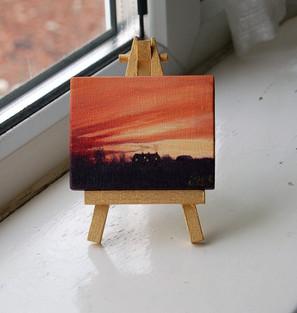 """NOW £10  MINI """"Winter Sunset"""""""