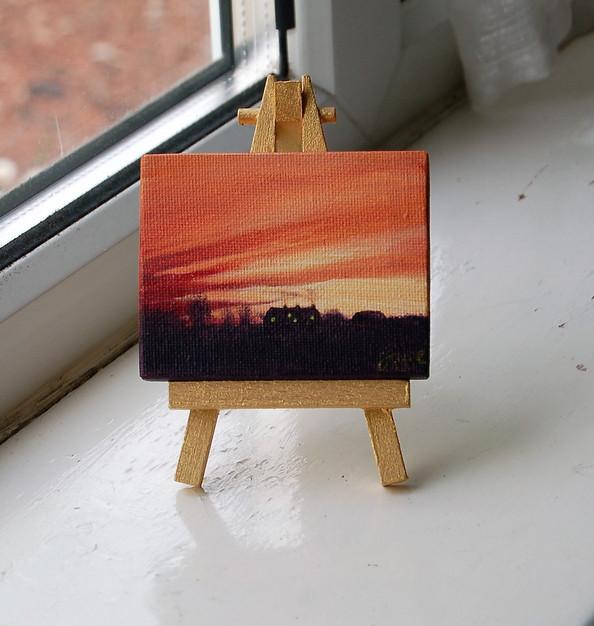 """NOW £15  MINI """"Winter Sunset"""""""