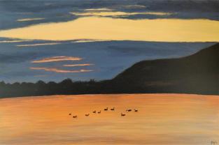 """NOW £120  """"Bedtime at Cheddar Reservoir"""""""