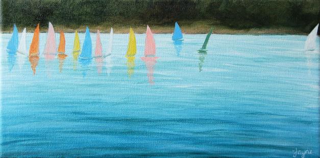 "NOW £25  ""Sailing on Cheddar Reservoir"""