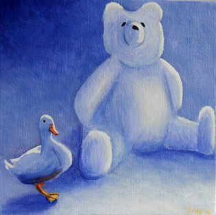 """GREETINGS CARD """"All my own work said white duck"""""""