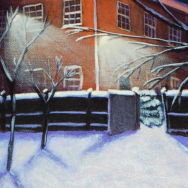 """Hitchin Girls School in Snow"""