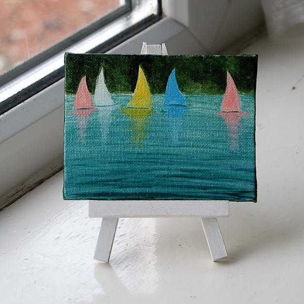 "MINI ""Sailboats on Cheddar Reservoir"""