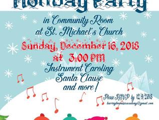 BMA Holiday Potluck Party!