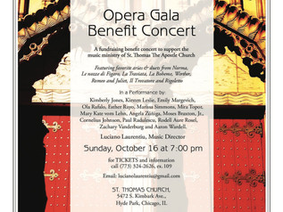 Sunday, October 16th, join BMA's piano instructor Luciano Laurentiu and Lyric Opera singers for