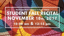 Save the Date for November 18th for BMA's Student Fall Recital