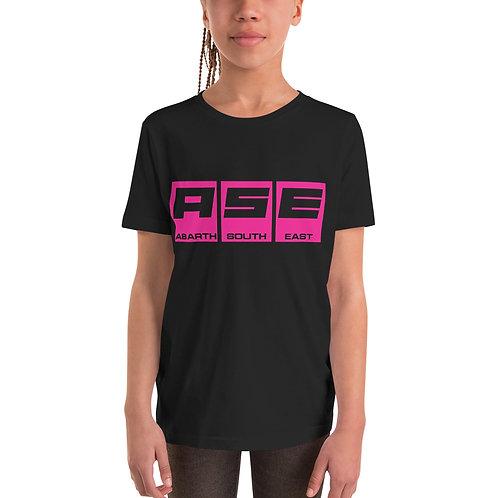 Kids Short Sleeve T-Shirt - Hot Pink Block Logo