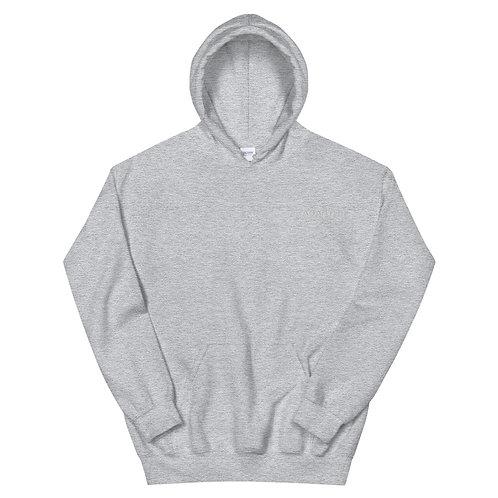 Embroidered Hoodie - White Modern Logo