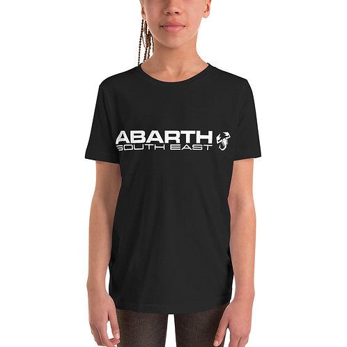 Kids Short Sleeve T-Shirt  - White Modern Logo