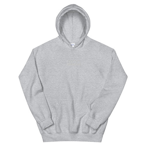 Embroidered Hoodie - 'The Pardey' White Centre Modern Logo
