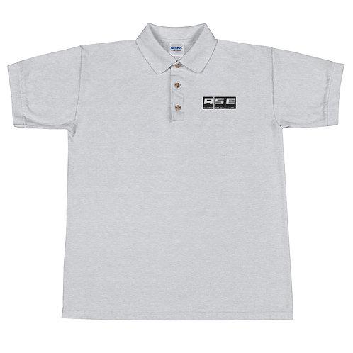 Embroidered Polo Shirt - Black Block Logo