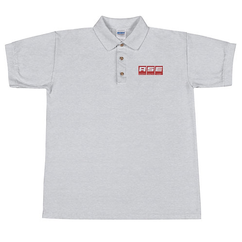 Embroidered Polo Shirt - Red Block Logo