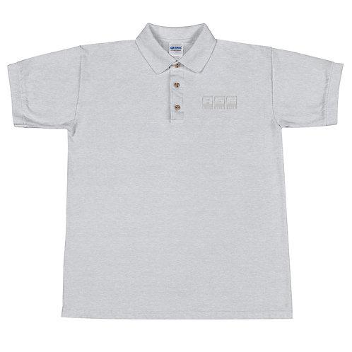 Embroidered Polo Shirt - White Block Logo
