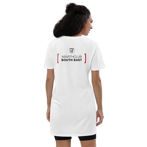 Black Text Scorpionship Organic Cotton T-Shirt Dress