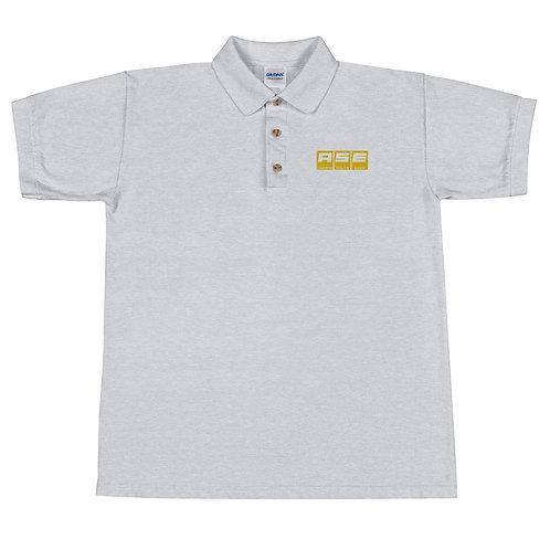 Embroidered Polo Shirt - Yellow Block Logo
