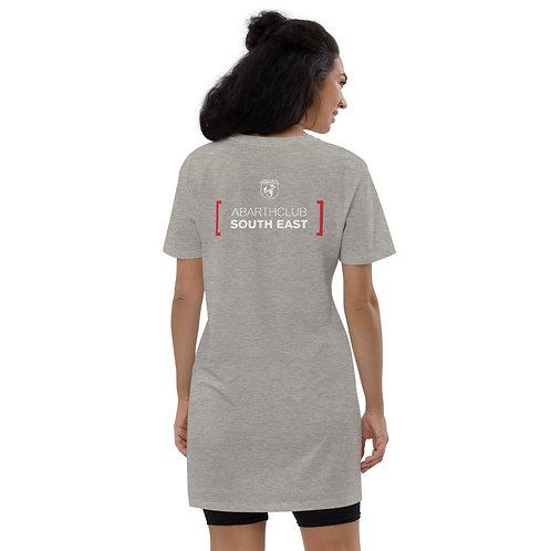 White Text Scorpionship Organic Cotton T-Shirt Dress