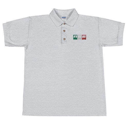 Embroidered Polo Shirt - Italian Block Logo