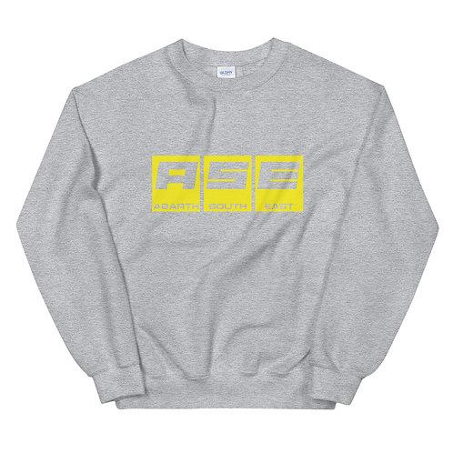 Unisex Sweatshirt - Yellow Block Logo