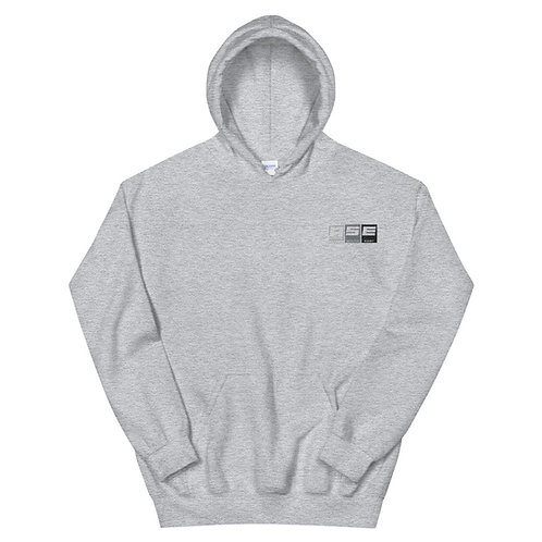 Embroidered Hoodie - Greyscale Block Logo
