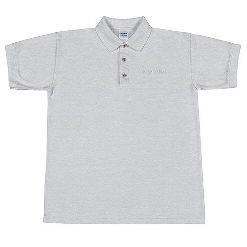Embroidered Polo Shirt - White Modern Logo