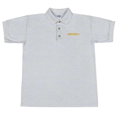Embroidered Polo Shirt - Yellow Modern Logo