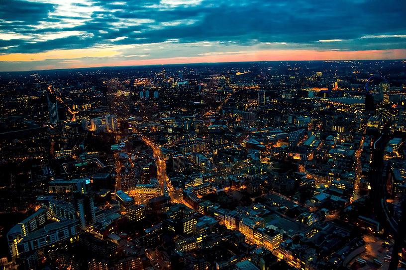 London Night Looking West Towards London