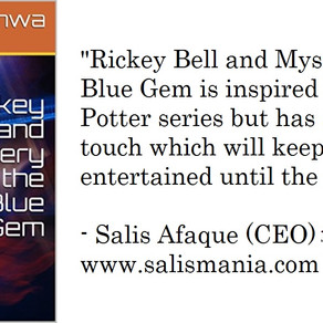 Rickey Bell and Mystery of the Blue Gem Book Review