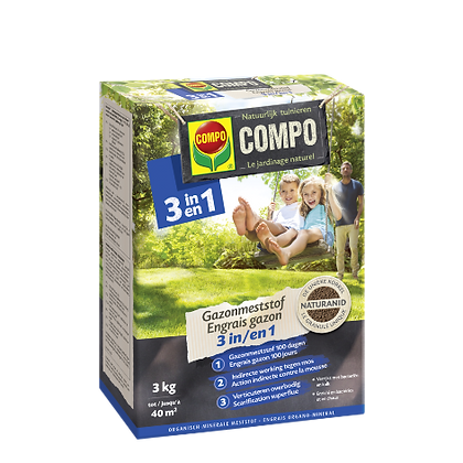 COMPO - Gazonmeststof 3 in 1