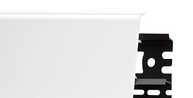 Плинтус пластиковый ARBITON INDO 01 Белый блеск