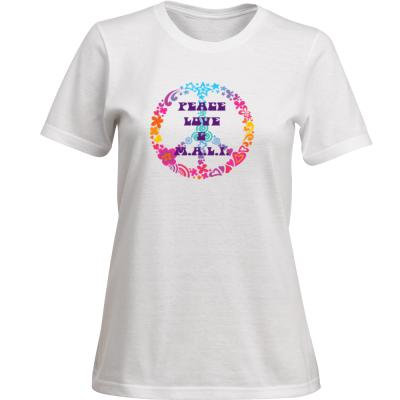 WOMENS PEACE LOVE AND M.A.L.I. T-SHIRT