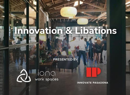 Iona to host Pasadena Innovate Mixer - February 27, 6-8:30pm