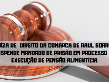 Juíza de Direito da Comarca de Raul Soares suspende mandado de prisão em processo de execução de pen