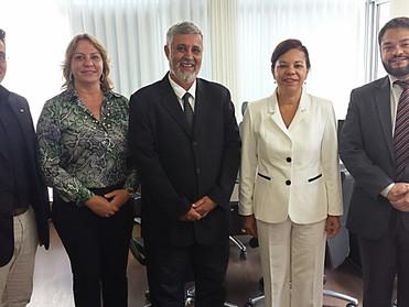 Dr. Áser e Dr. Moisés se reúnem com a Vice-presidente da OAB de Minas Gerais